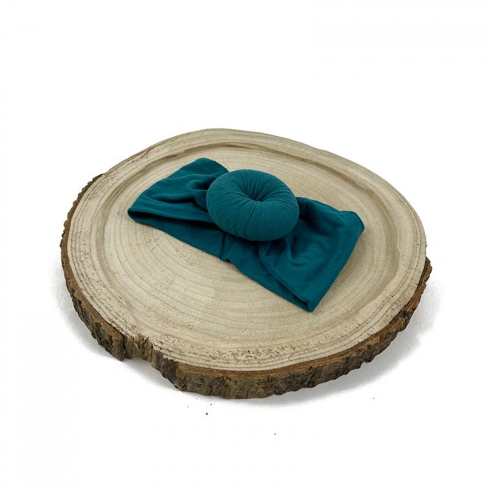 Bentita turban Albastru-canar 0