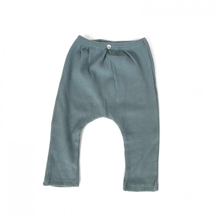 Pantaloni Bumbac Bebelusi Albastrii 1