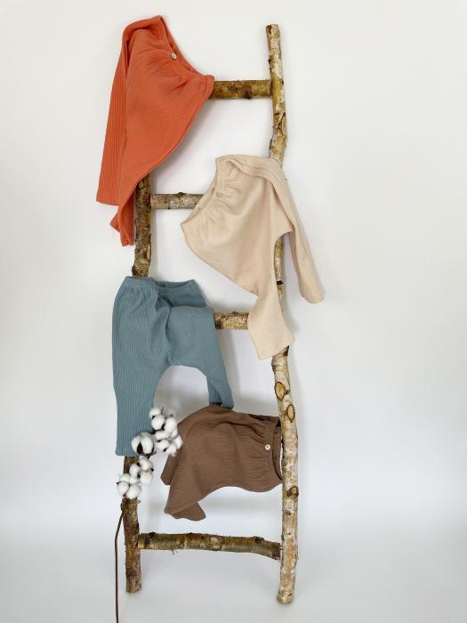 Pantaloni Bumbac Bebelusi Albastrii 5