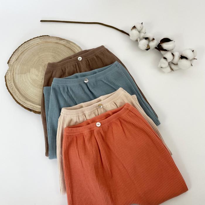 Pantaloni Bumbac Bebelusi Portocaliu 4