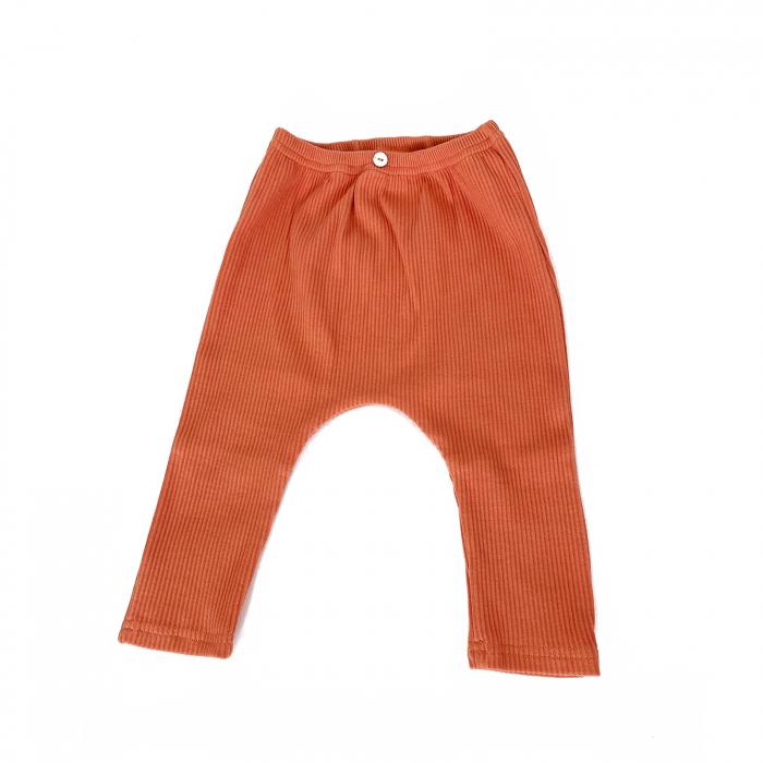 Pantaloni Bumbac Bebelusi Portocaliu 2