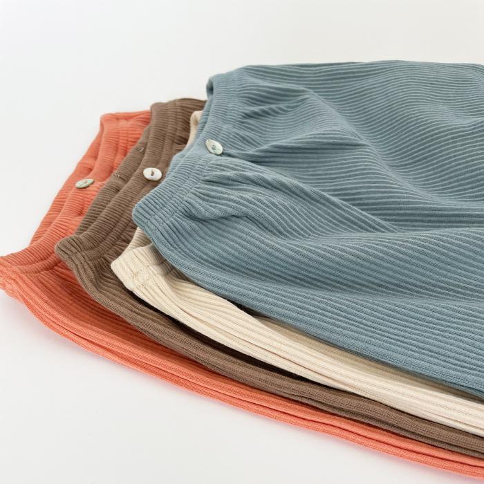Pantaloni Bumbac Bebelusi Portocaliu 6