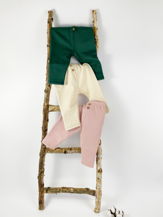 Pantaloni Caldurosi din Bumbac Roz 3