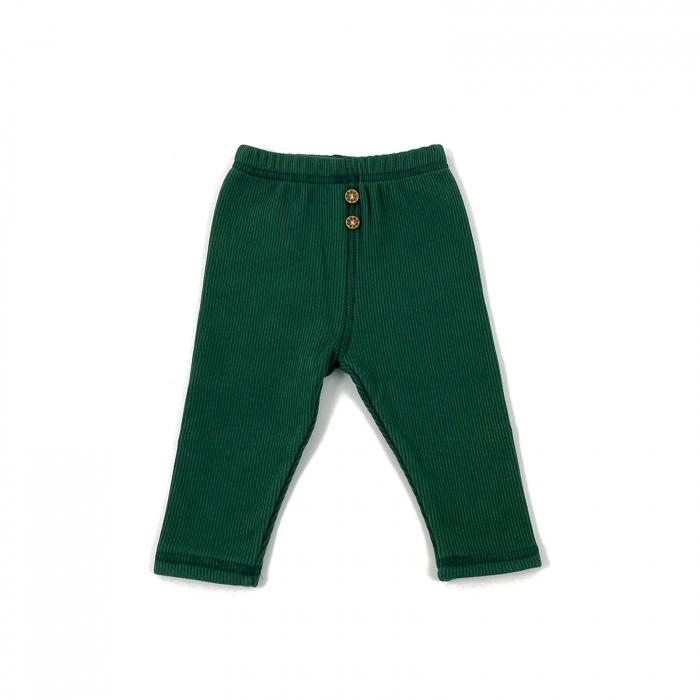 Pantaloni Caldurosi din Bumbac Verzi 0