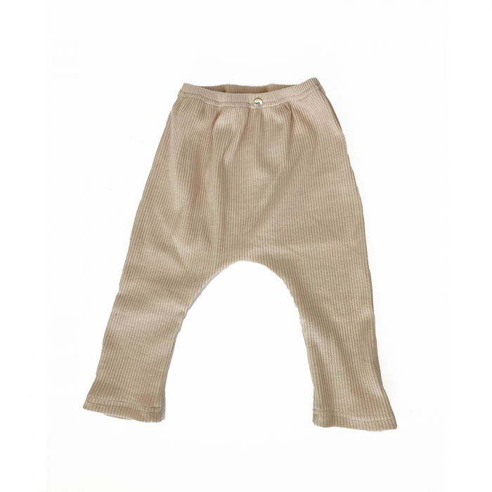 Pantaloni Bumbac Bebelusi Crem 1