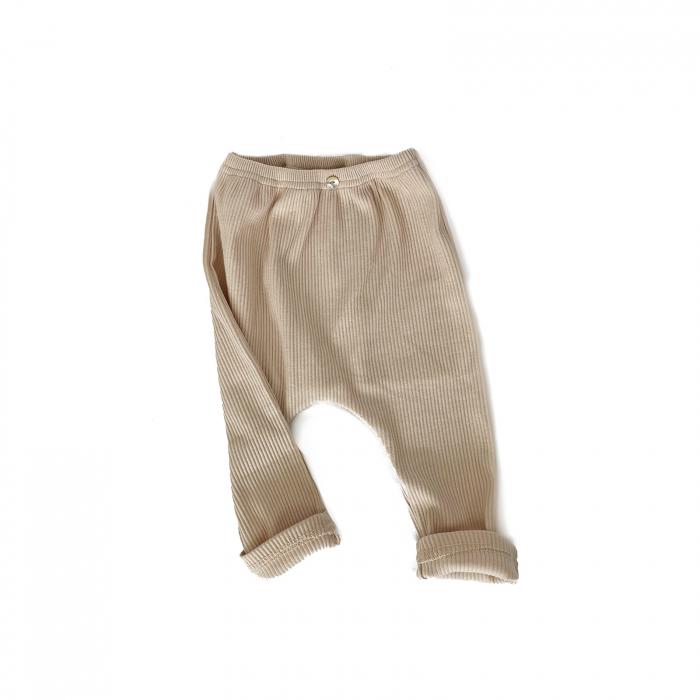 Pantaloni Bumbac Bebelusi Crem 0