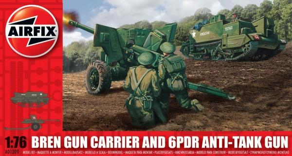 Airfix Bren Gun Carrier Anti Tank Gun 0