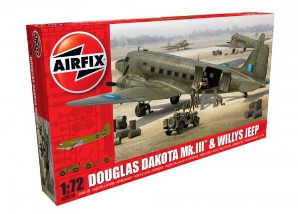 Airfix Douglas Dakota Mkiii Willys Jeep 0
