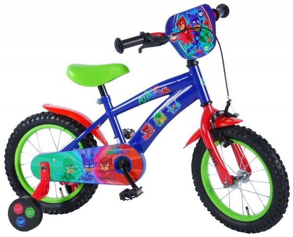 Bicicleta Volare pentru baieti 14 inch cu roti ajutatoare Pj Masks 0