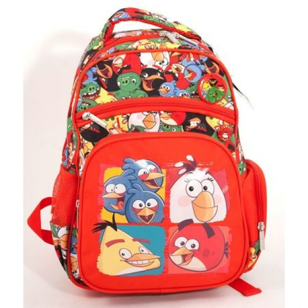 Ghiozdan CL 0 Angry Birds Rosu Pigna si minge cadou 0