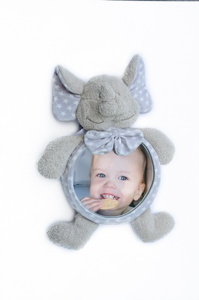 Jucarie de plus Elefant cu oglinda pentru casa si masina Bo Jungle  0