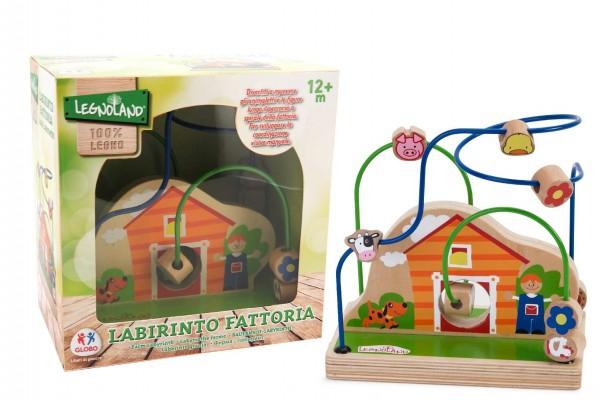 Jucarie labirint din lemn Globo Legnoland 37097 pentru bebelusi in forma de casuta 0