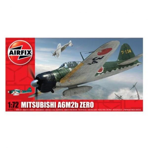 Kit aeromodele Airfix 01005 Avion Mitsubishi A6M2b Zero Scara 1:72  0