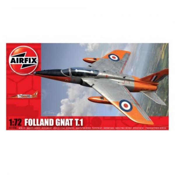 Kit aeromodele Airfix 01006 Avion Folland Gnat T.1 Scara 1:72  0