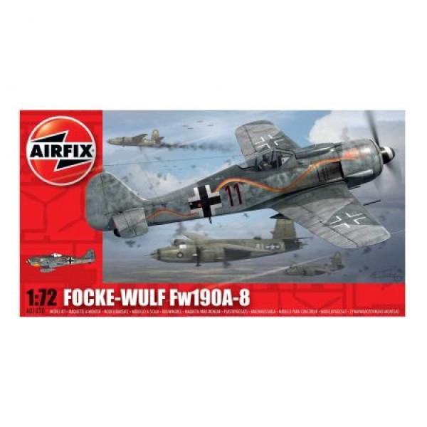 Kit aeromodele Airfix 01020 Avion Focke Wulf Fw190A-8 Scara 1:72 0
