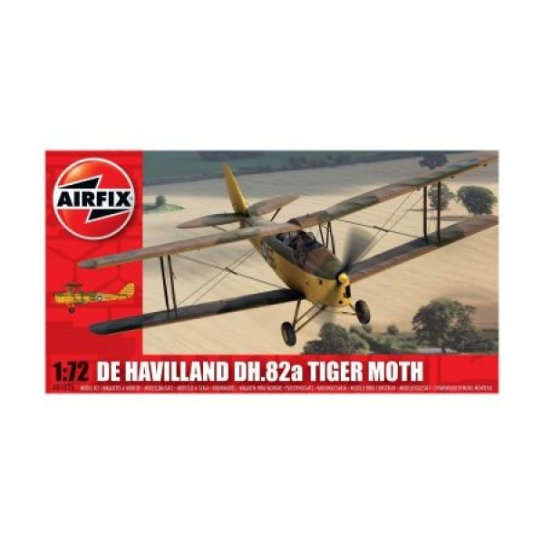 Kit aeromodele Airfix 01025 Avion De Havilland DH.82a Tiger Moth Scara 1:72 0