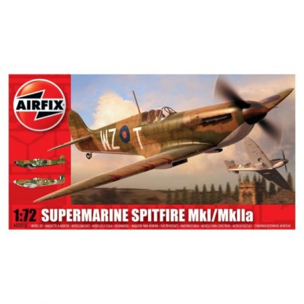 Kit aeromodele Airfix 02010 Avion Supermarine Spitfire MkI/MkIIa Scara 1:72  0
