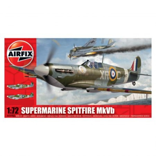 Kit aeromodele Airfix 02046A Avion Supermarine Spitfire MkVb Scara 1:72  0