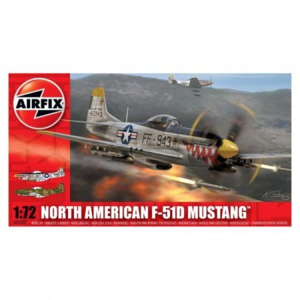 Kit aeromodele Airfix 02047 Avion North American F-51D Mustang Scara 1:72  0