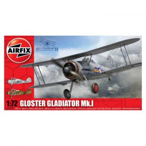 Kit aeromodele Airfix 02052 Avion Gloster Gladiator MkI Scara 1:72 0