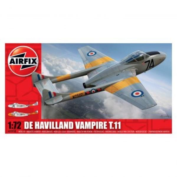 Kit aeromodele Airfix 02058 Avion De Havilland Vampire T.11 Scara 1:72  0