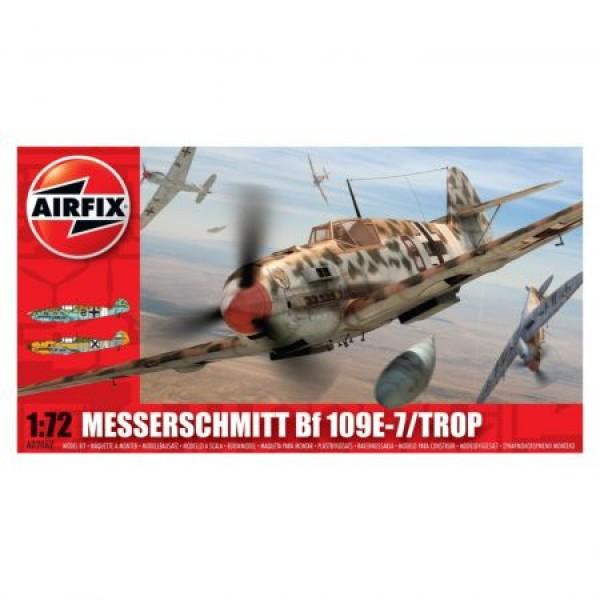 Kit aeromodele Airfix 02062 Avion Messerschmitt Bf 109E-7/Trop Scara 1:72 0