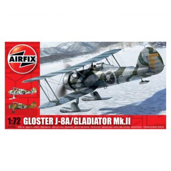 Kit aeromodele Airfix 2063 Avion Gloster Gladiator J-8A/Gladiator Mk.II Scara 1:72  0