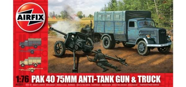 Kit constructie Airfix PaK 40 75mm Tun AntiTank si Camion 0