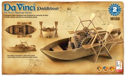 Kit constructie Barca cu vasle functionala DaVinci 0