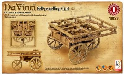 Kit constructie Carucior cu autopropulsie functional DaVinci 0