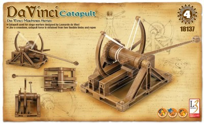Kit constructie Catapulta functionala DaVinci 0