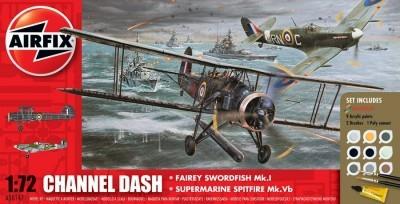 Kit constructie Channel Dash Fairey Swordfish si Supermarine Spitfire 0