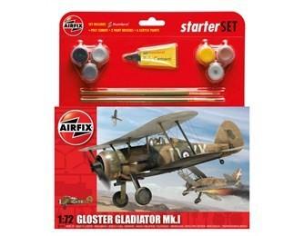 Kit constructie si pictura avion Gloster Gladiator Mk.I 0