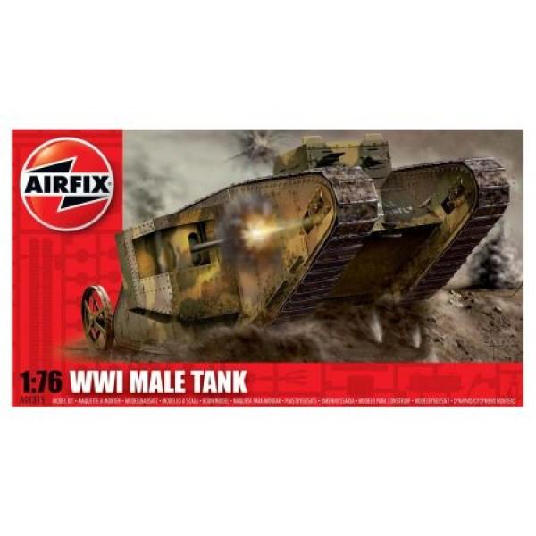 Kit modelism Airfix 01315 Tanc WWI Male Tank Scara 1:76  0