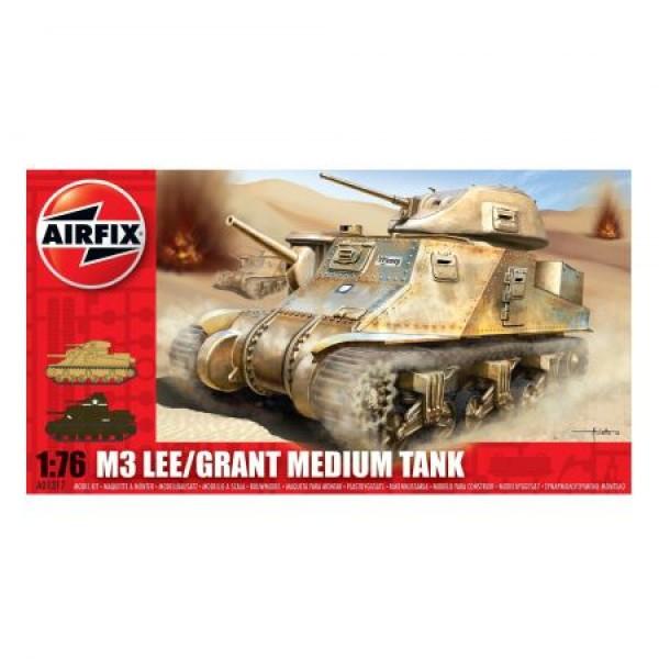 Kit modelism Airfix 01317 Tanc M3 Lee/Grant Medium Tank Scara 1:76 0