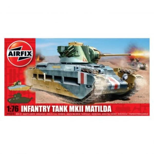 Kit Modelism Airfix 01318 Tanc Infantry Tank MkII Matilda Scara 1:76 0
