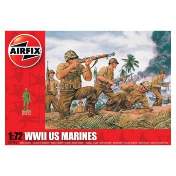 Kit soldati Airfix 01716 Set 45 soldati WWII Marina Americana scara 1:72  0