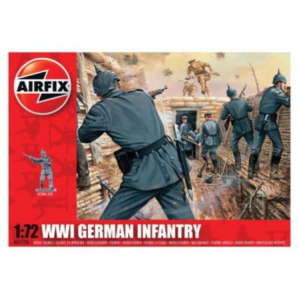 Kit soldati Airfix 01726 Set 48 soldati WWI Infanterie Germana scara 1:72  0