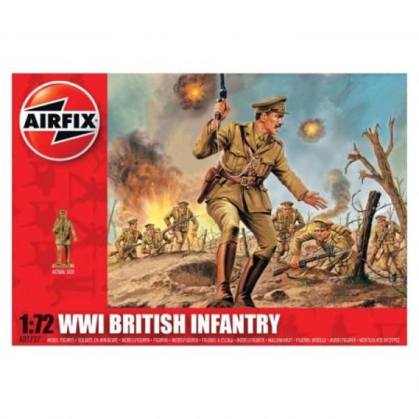 Kit soldati Airfix 01727 Set 48 soldati WWI Infanterie Britanica scara 1:72  0