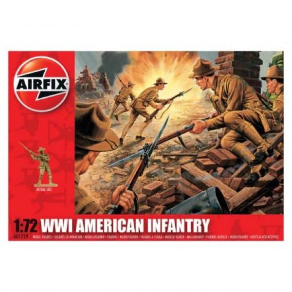 Kit soldati Airfix 01729 Set 48 soldati WWI Infanterie Americana scara 1:72  0