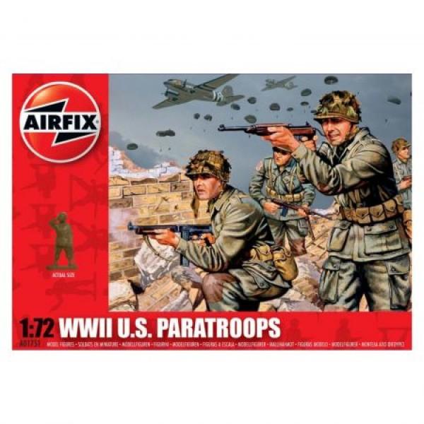 Kit soldati Airfix 01751 Set 48 soldati WWII Paratrupe Americane scara 1:72  0