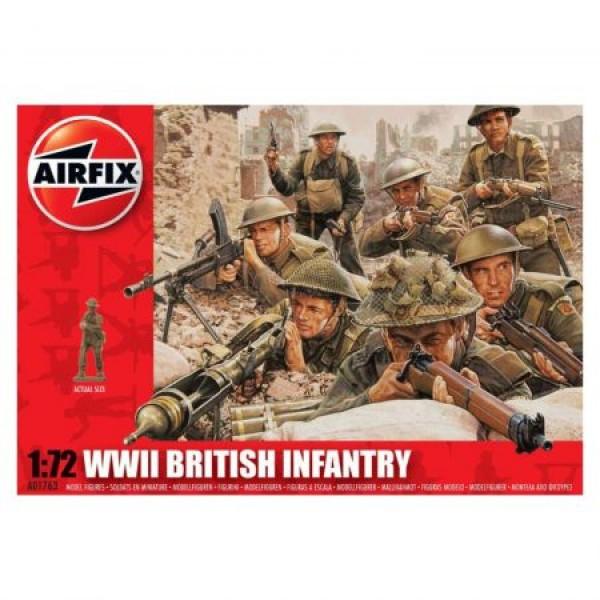 Kit soldati Airfix 01763 Set 48 soldati WWII Infanterie Britanica scara 1:72 0