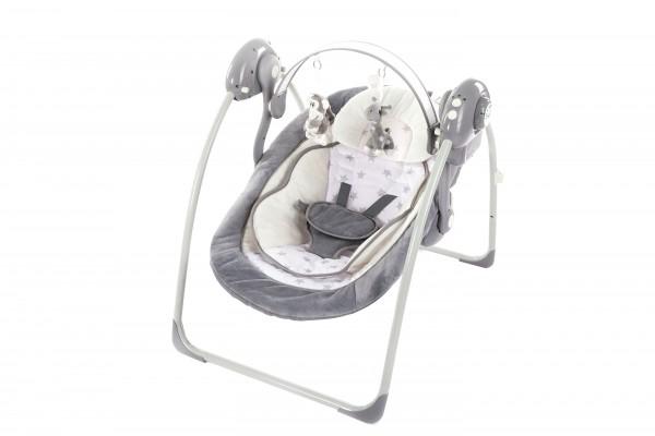 Leagan portabil cu reductie BO Jungle Gri model Stele pentru bebelusi cu arcada jucarii 0