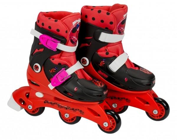 Role pentru copii cu 3 roti Saica 5834 Ladybug marime reglabila 35-38 roti interschimbabile frana de picior 0