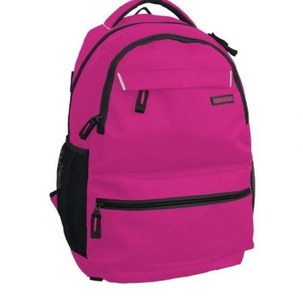 Rucsac Adventurer scolar roz cu negru si minge cadou 0
