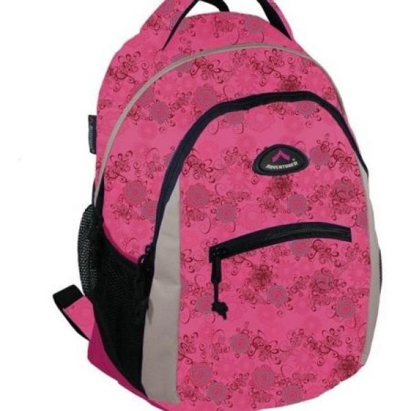 Rucsac scolar Adventurer 5058 Roz cu floricele 0