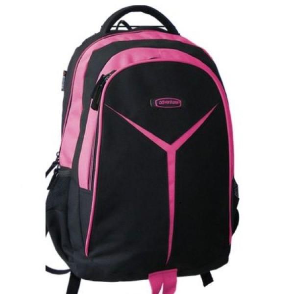 Rucsac scolar Adventurer negru cu roz 0