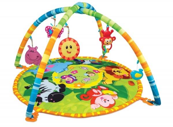 Saltea cu arcade activitati bebe Winfun Animalele Junglei 0