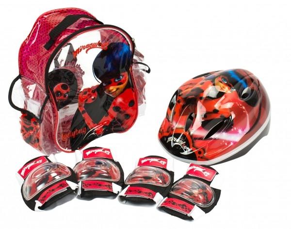 Set accesorii protectie pentru bicicleta role trotineta Saica 5822 Ladybug Buburuza Miraculoasa 0