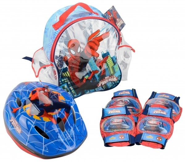 Set accesorii protectie pentru bicicleta role trotineta Saica 9446 Spiderman 0